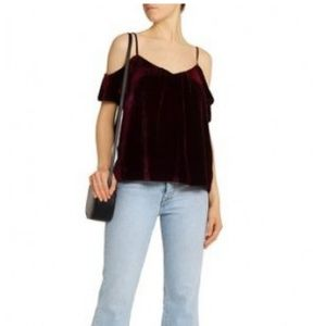 Joie Adorlee Cold Shoulder Velvet Top